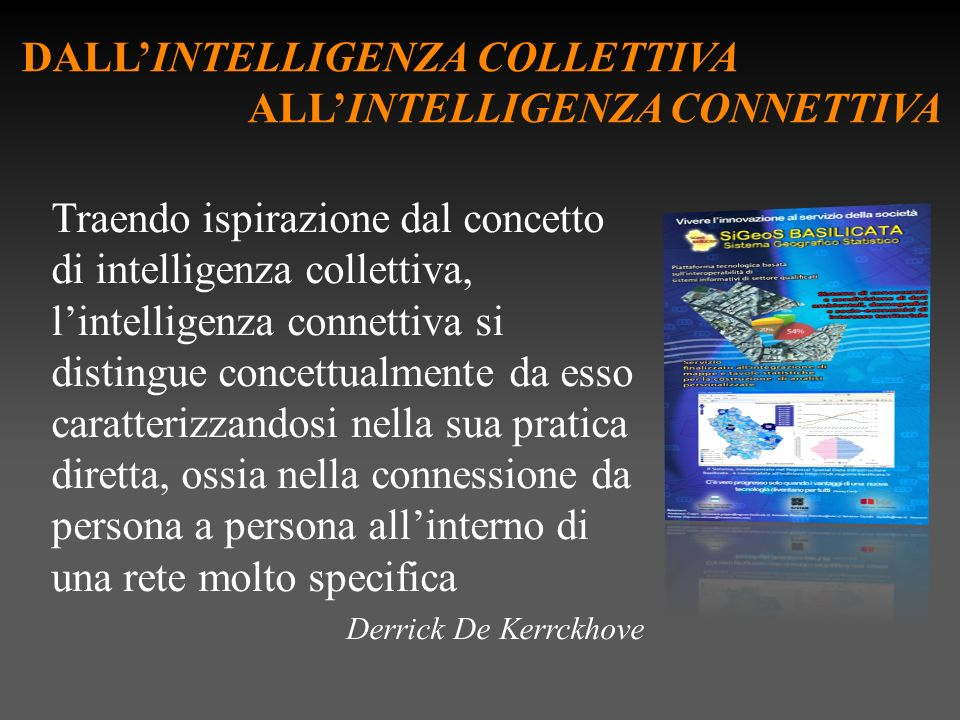 DALL'INTELLIGENZA COLLETTIVA ALL'INTELLIGENZA CONNETTIVA