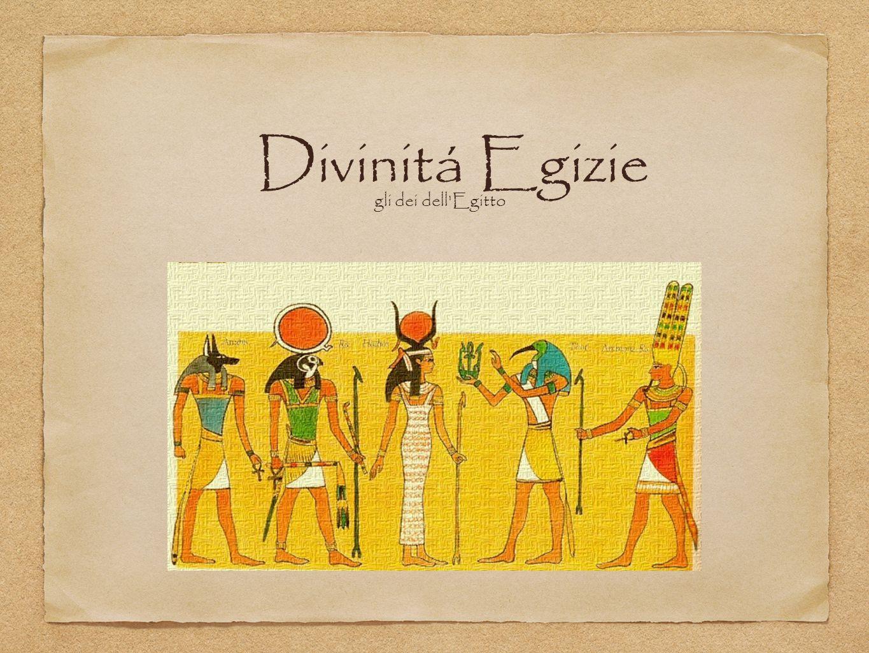 Divinitá Egizie gli dei dell Egitto