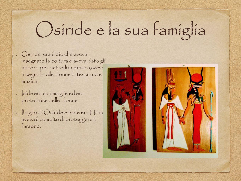Osiride e la sua famiglia