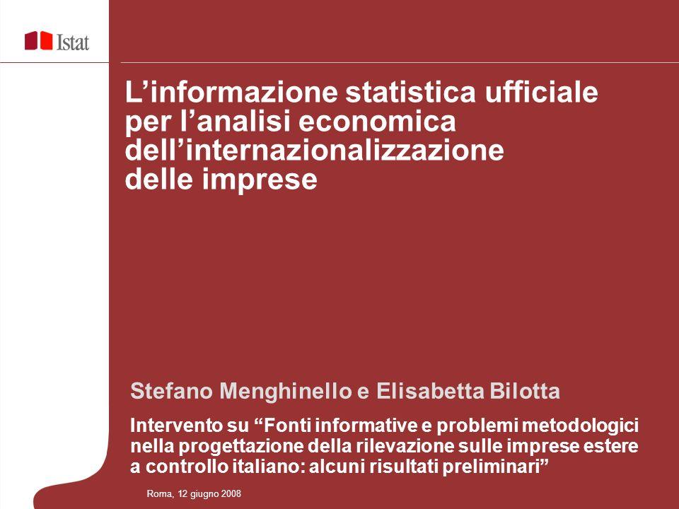 L'informazione statistica ufficiale per l'analisi economica