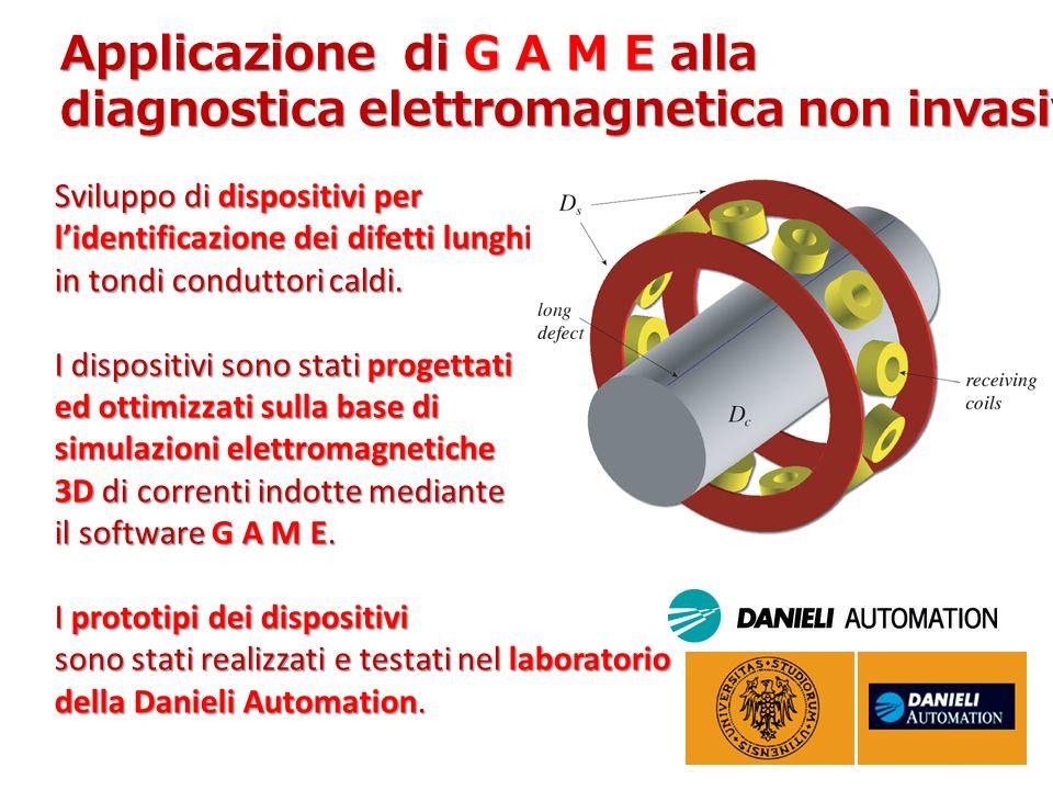 Applicazione di G A M E alla diagnostica elettromagnetica non invasiva