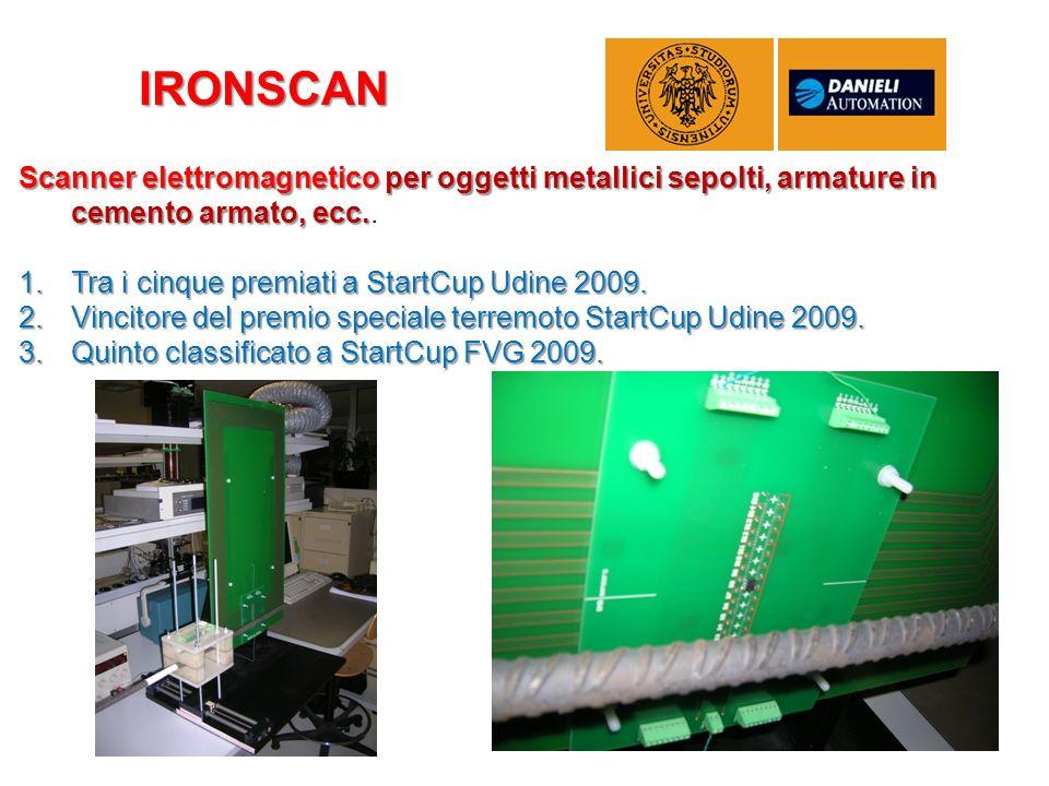 IRONSCAN Scanner elettromagnetico per oggetti metallici sepolti, armature in cemento armato, ecc.. Tra i cinque premiati a StartCup Udine 2009.
