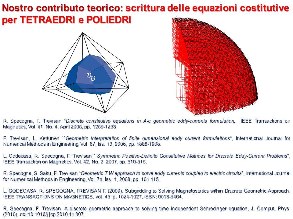 Nostro contributo teorico: scrittura delle equazioni costitutive per TETRAEDRI e POLIEDRI