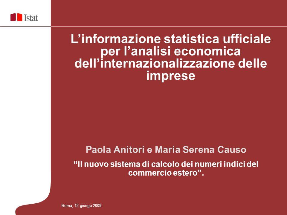 L'informazione statistica ufficiale per l'analisi economica dell'internazionalizzazione delle imprese