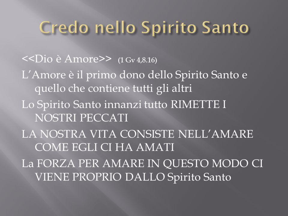 Credo nello Spirito Santo