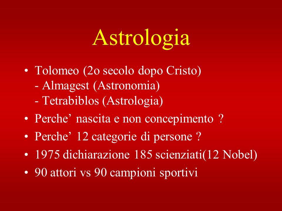 Astrologia Tolomeo (2o secolo dopo Cristo) - Almagest (Astronomia) - Tetrabiblos (Astrologia)