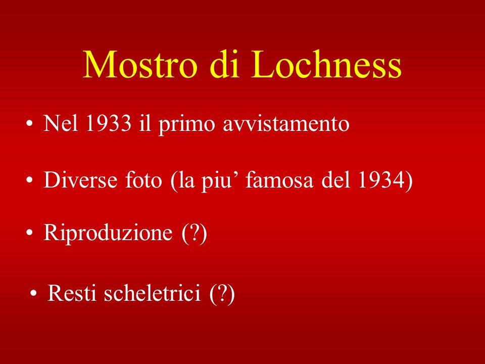 Mostro di Lochness Nel 1933 il primo avvistamento