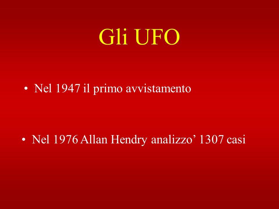 Gli UFO Nel 1947 il primo avvistamento