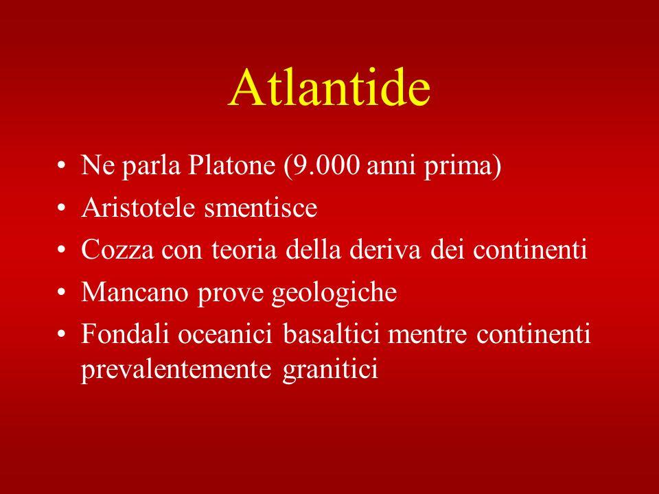 Atlantide Ne parla Platone (9.000 anni prima) Aristotele smentisce
