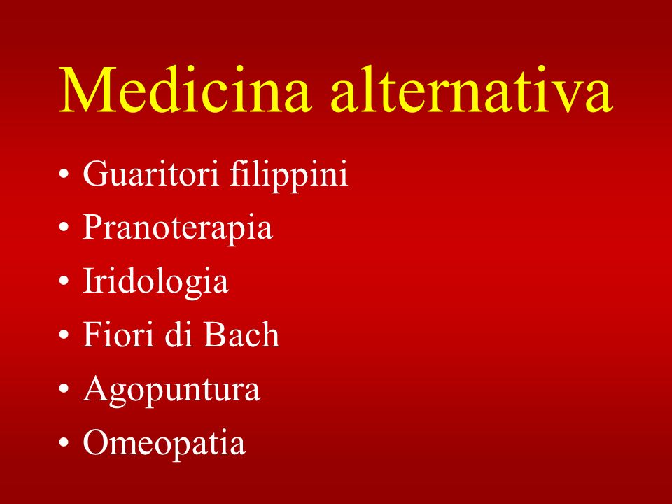 Medicina alternativa Guaritori filippini Pranoterapia Iridologia