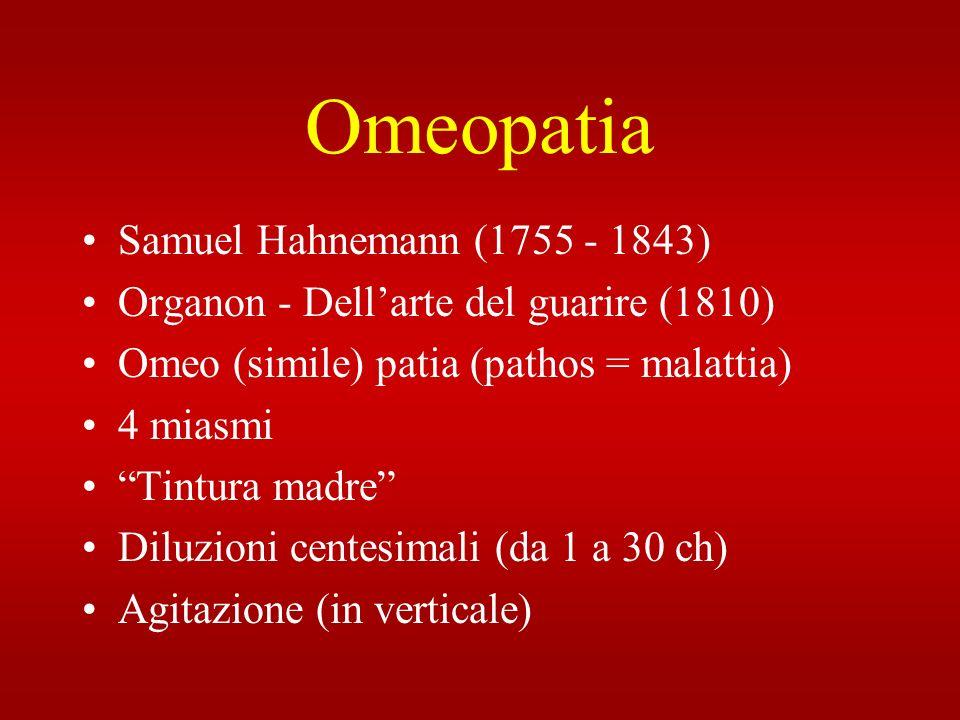 Omeopatia Samuel Hahnemann (1755 - 1843)