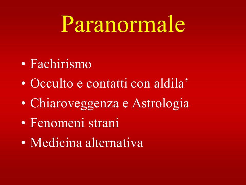 Paranormale Fachirismo Occulto e contatti con aldila'