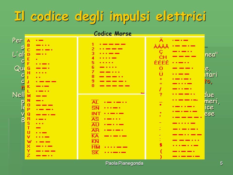 Il codice degli impulsi elettrici