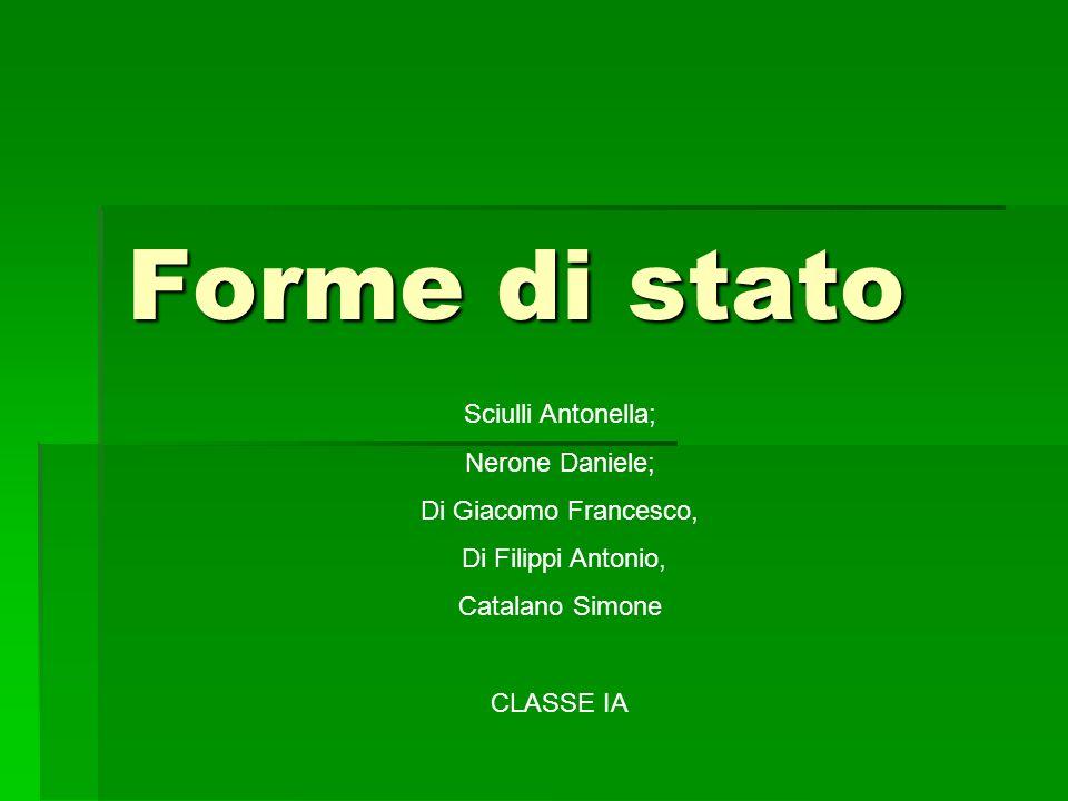 Forme di stato Sciulli Antonella; Nerone Daniele;