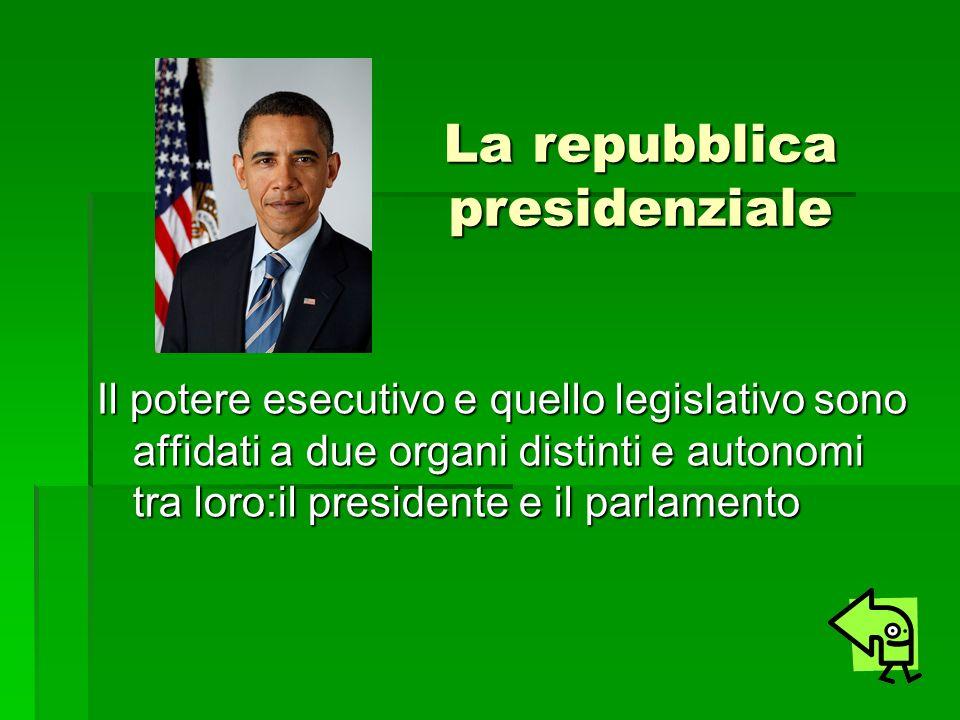 La repubblica presidenziale