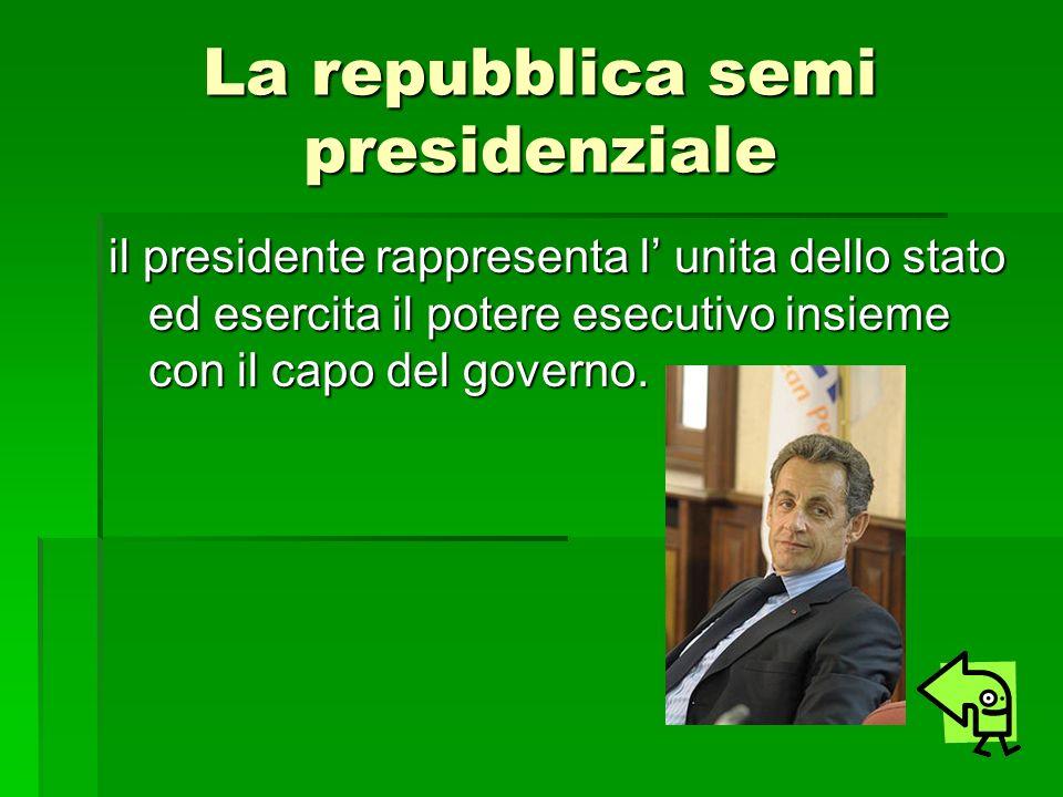 La repubblica semi presidenziale