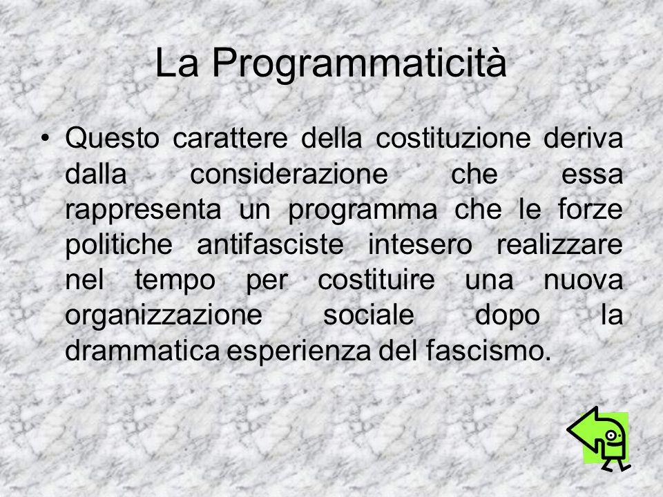 La Programmaticità