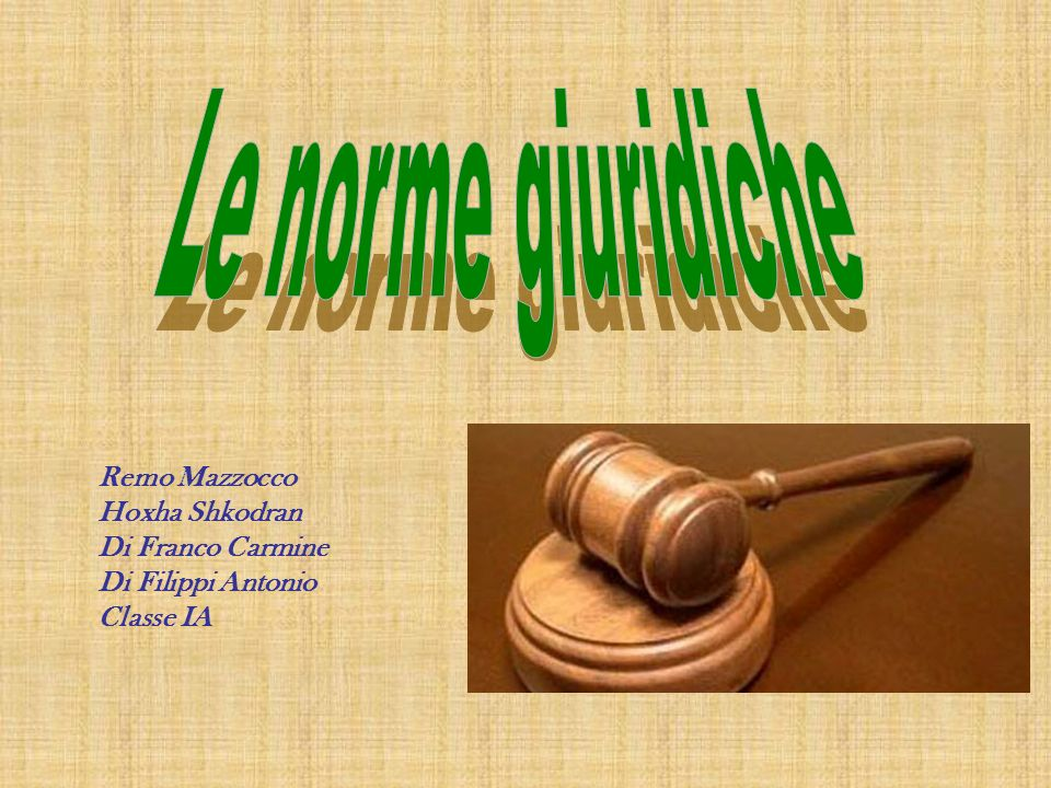Le norme giuridiche Remo Mazzocco Hoxha Shkodran Di Franco Carmine