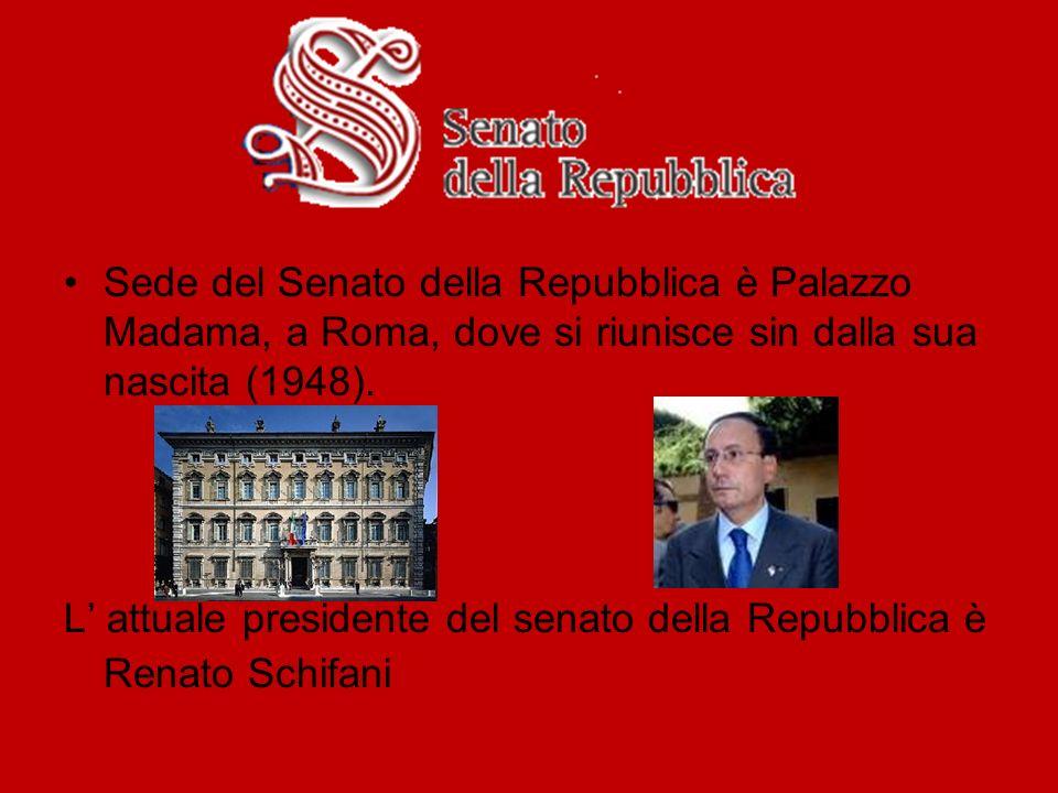 Sede del Senato della Repubblica è Palazzo Madama, a Roma, dove si riunisce sin dalla sua nascita (1948).