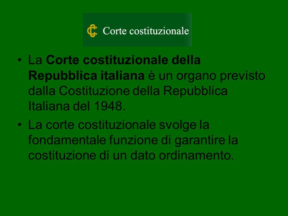 La Corte costituzionale della Repubblica italiana è un organo previsto dalla Costituzione della Repubblica Italiana del 1948.