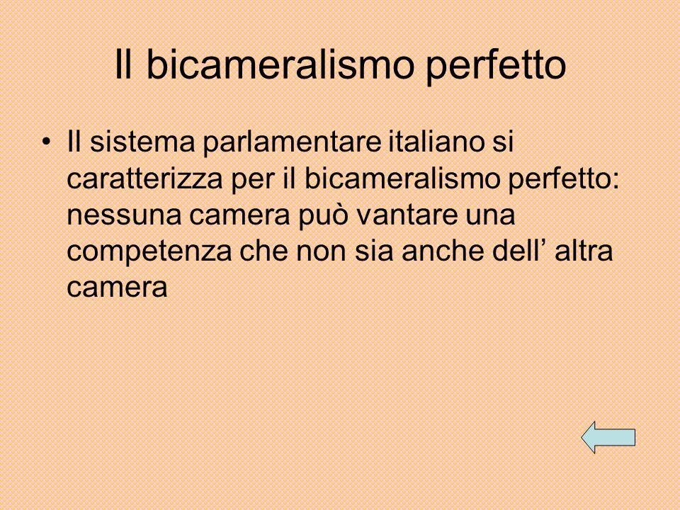 Il bicameralismo perfetto