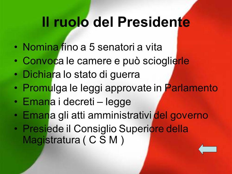 Il ruolo del Presidente