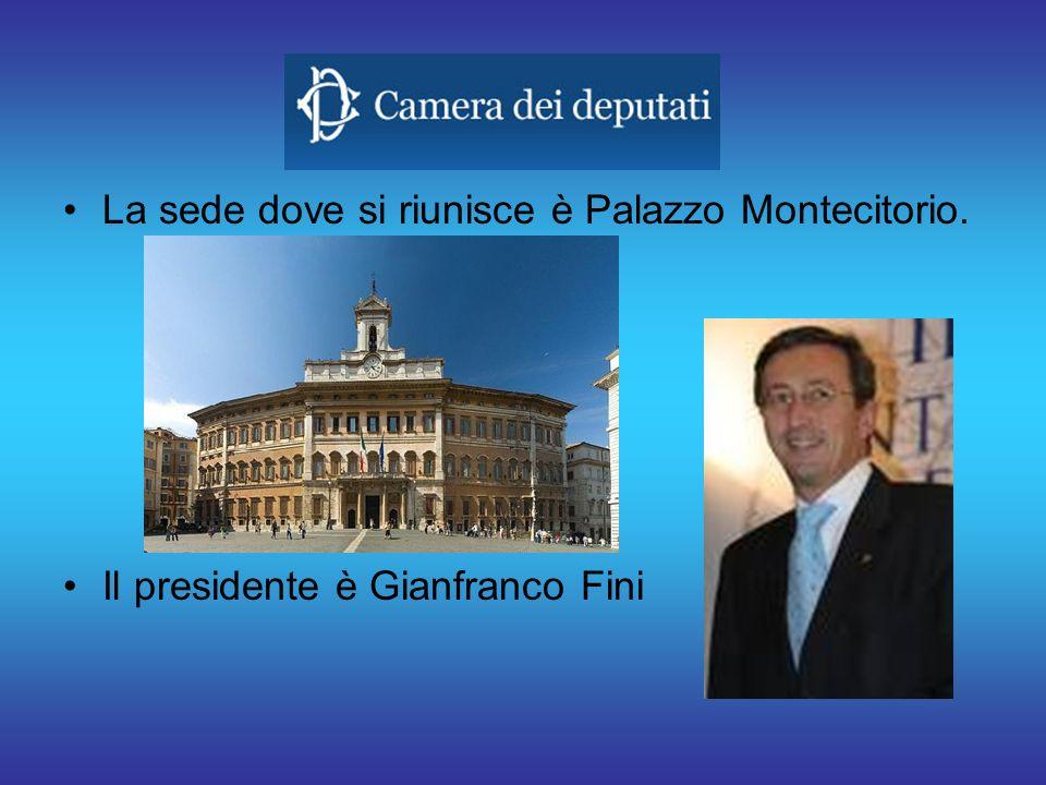 La sede dove si riunisce è Palazzo Montecitorio.