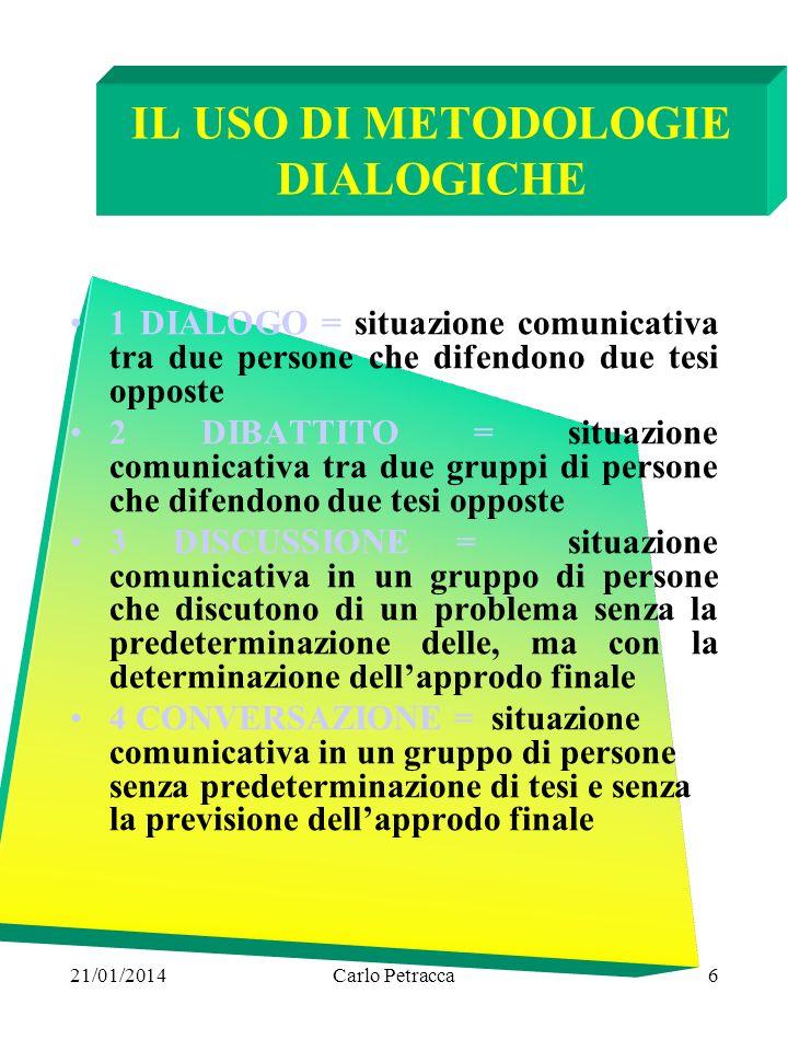 IL USO DI METODOLOGIE DIALOGICHE