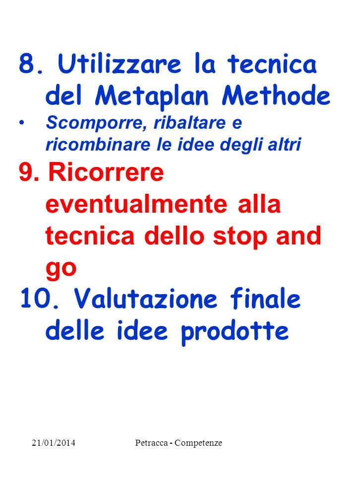8. Utilizzare la tecnica del Metaplan Methode