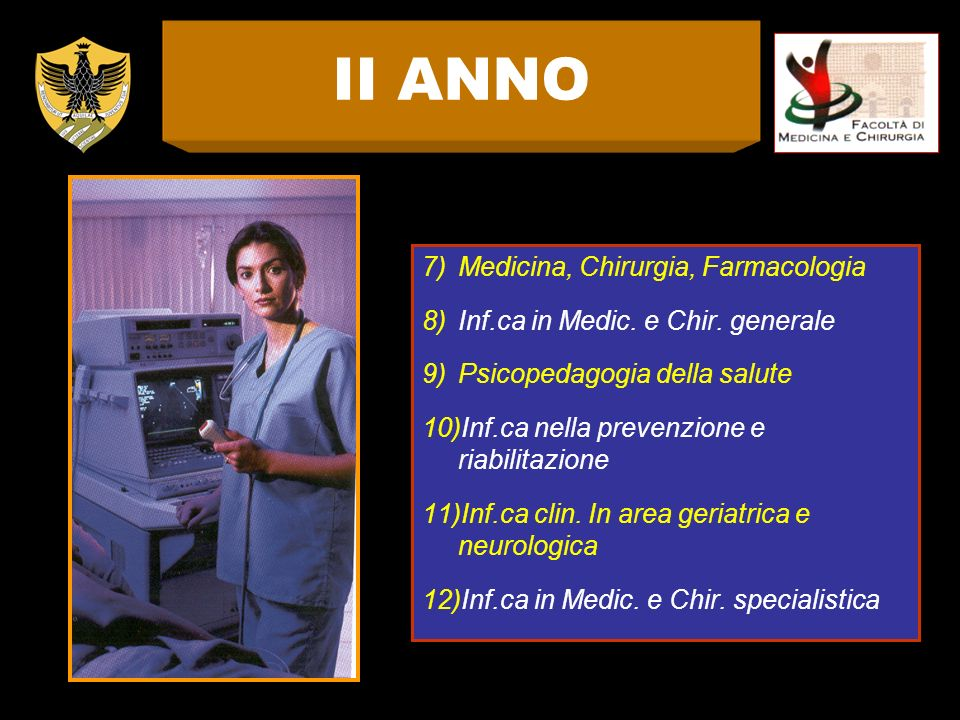 II ANNO Medicina, Chirurgia, Farmacologia