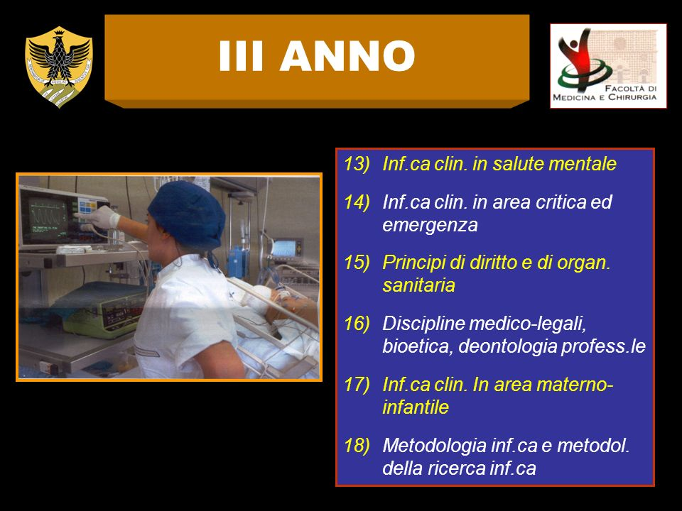 III ANNO Inf.ca clin. in salute mentale