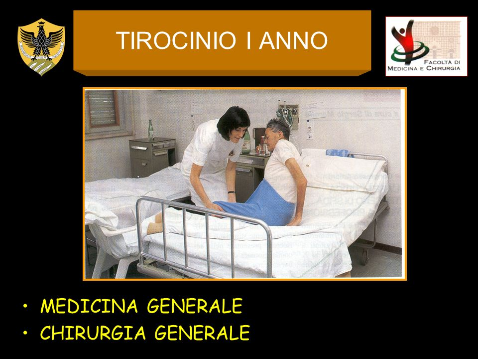 TIROCINIO I ANNO MEDICINA GENERALE CHIRURGIA GENERALE