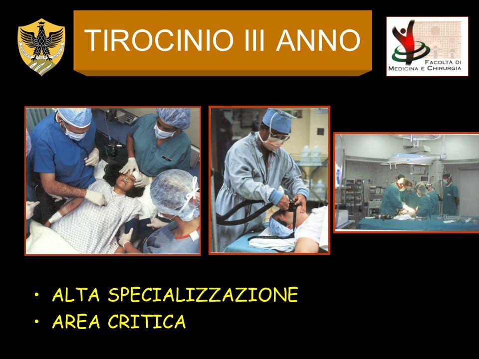 TIROCINIO III ANNO ALTA SPECIALIZZAZIONE AREA CRITICA