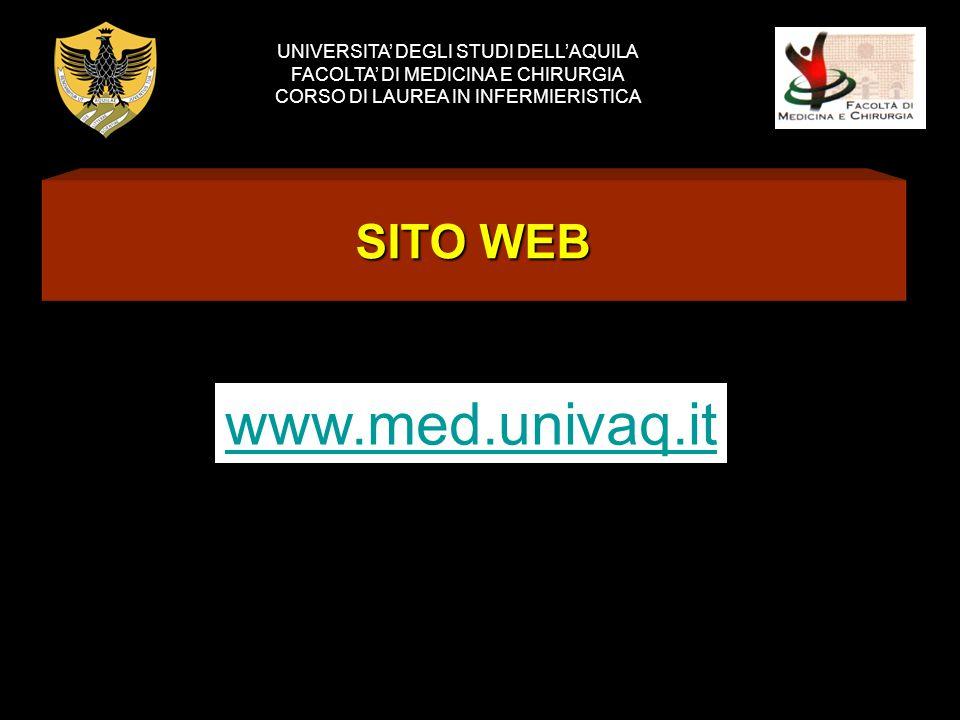 www.med.univaq.it SITO WEB UNIVERSITA' DEGLI STUDI DELL'AQUILA