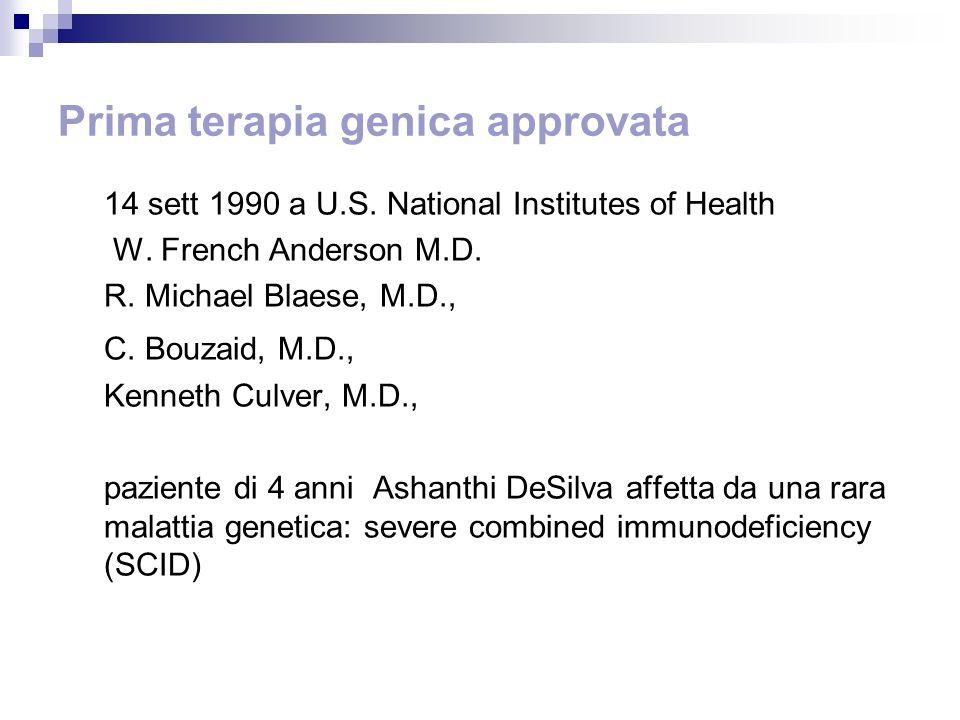 Prima terapia genica approvata