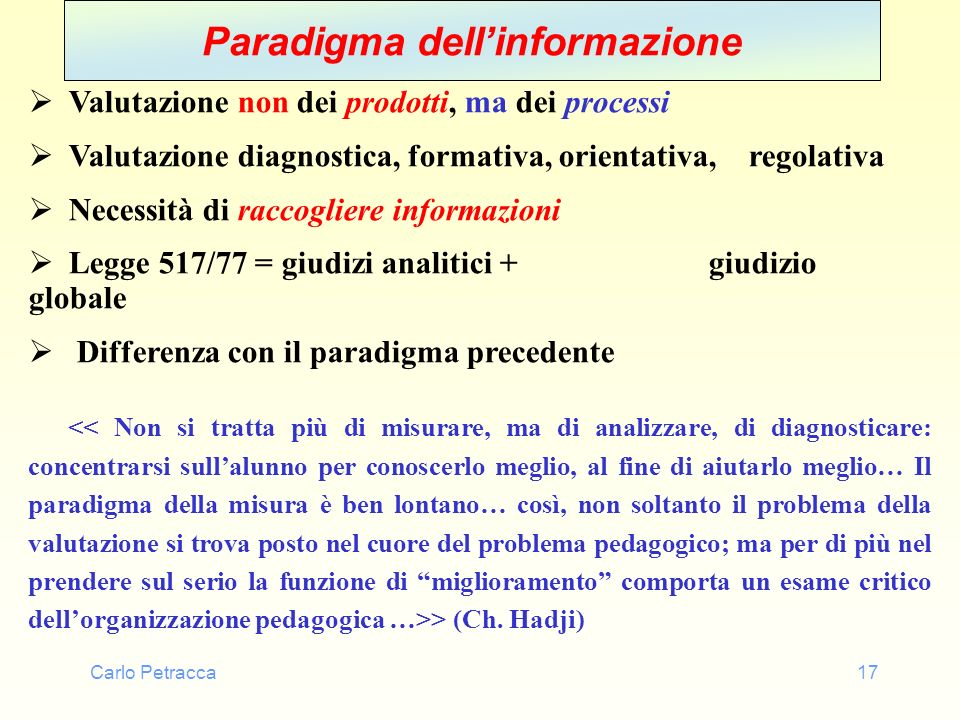 Paradigma dell'informazione