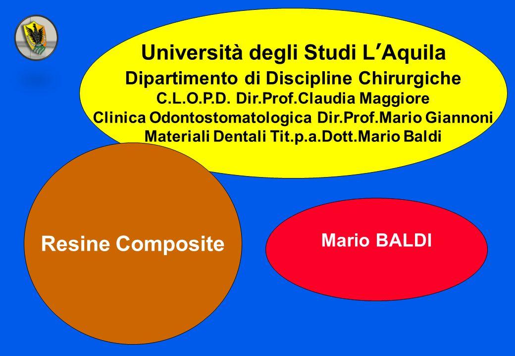 Università degli Studi L'Aquila Resine Composite