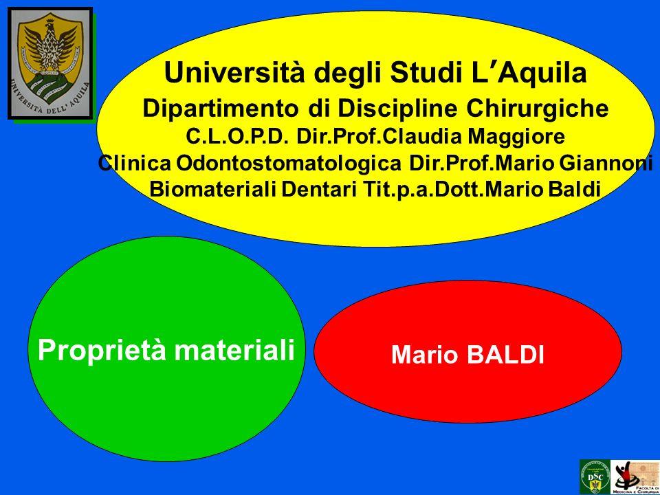 Università degli Studi L'Aquila Proprietà materiali