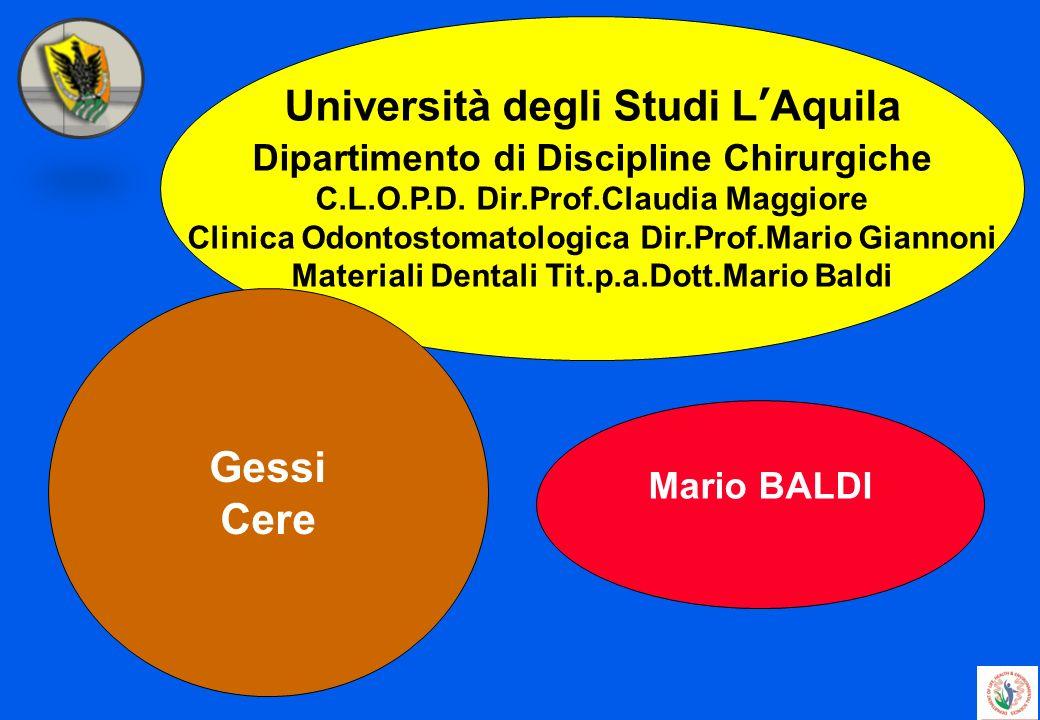 Università degli Studi L'Aquila Gessi Cere