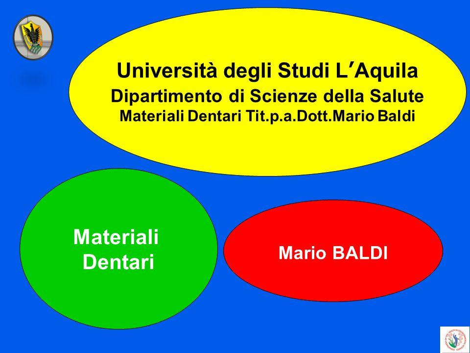Università degli Studi L'Aquila Materiali Dentari