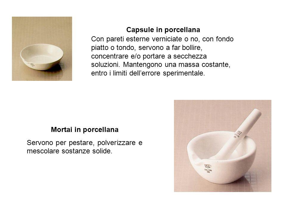 Capsule in porcellana Con pareti esterne verniciate o no, con fondo. piatto o tondo, servono a far bollire,