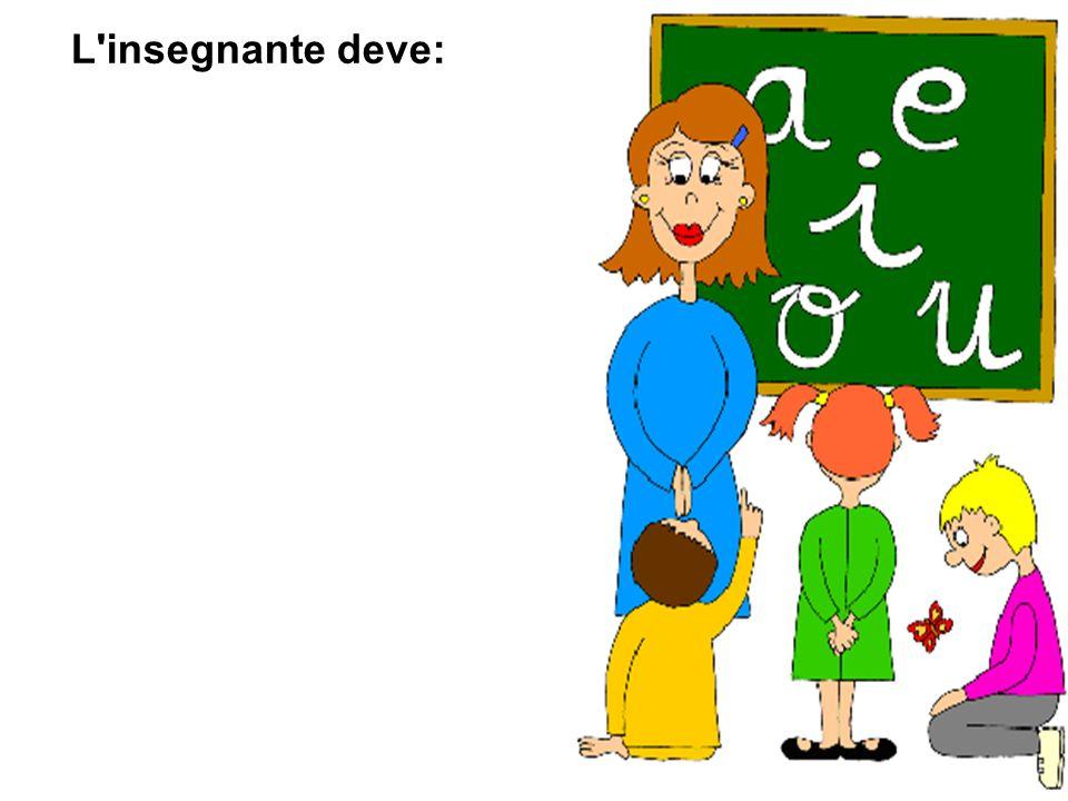 L insegnante deve: riconoscere e accogliere realmente la diversità ;