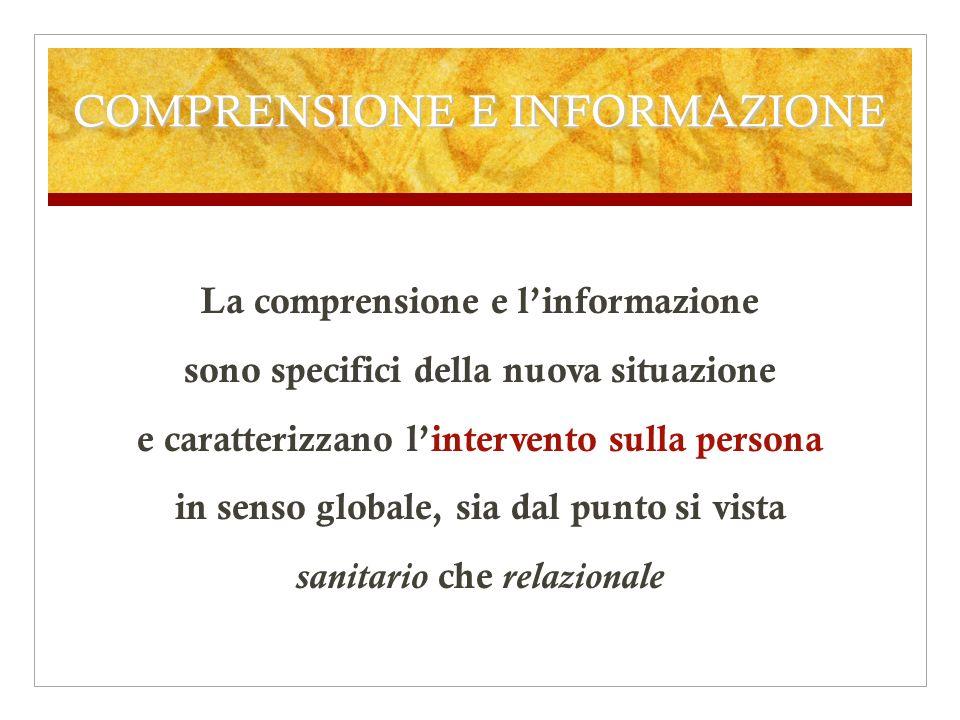 COMPRENSIONE E INFORMAZIONE