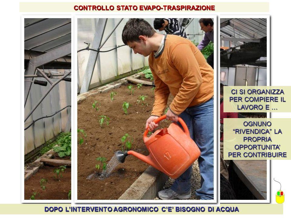 CONTROLLO STATO EVAPO-TRASPIRAZIONE