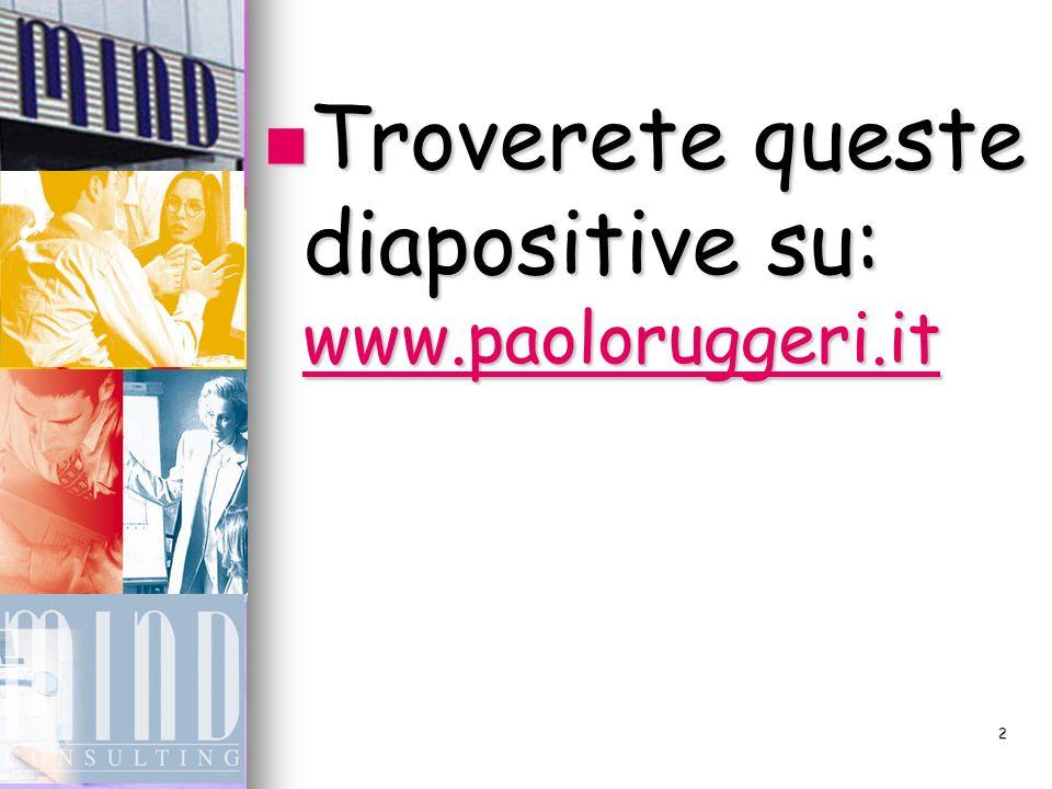 Troverete queste diapositive su: www.paoloruggeri.it