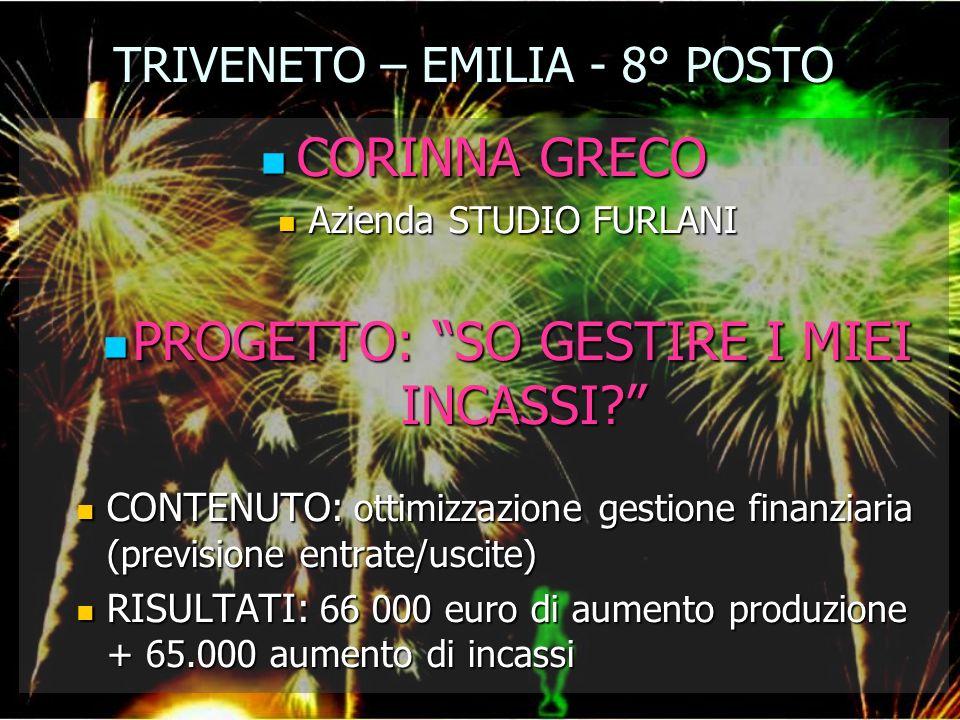 TRIVENETO – EMILIA - 8° POSTO