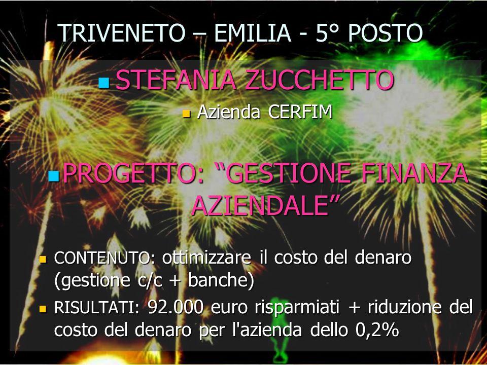 TRIVENETO – EMILIA - 5° POSTO