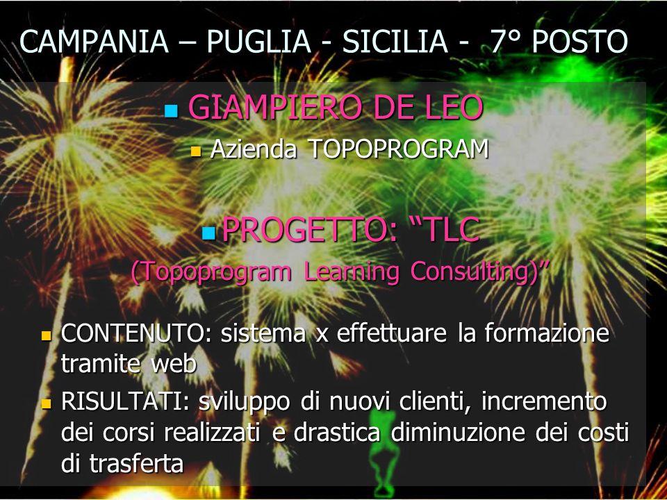CAMPANIA – PUGLIA - SICILIA - 7° POSTO