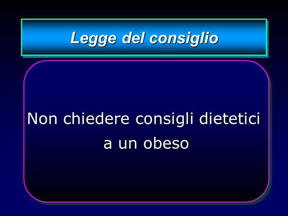 Non chiedere consigli dietetici