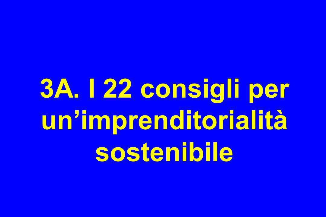 3A. I 22 consigli per un'imprenditorialità sostenibile